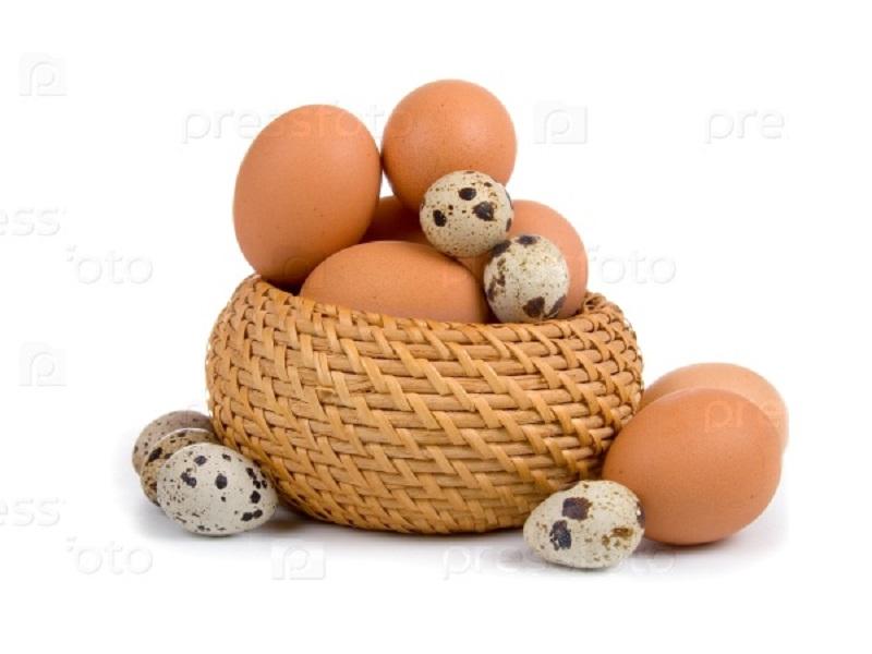 Яйца куриные и перепелиные